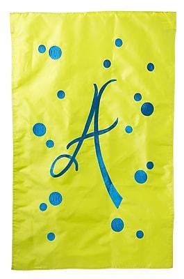 Evergreen Enterprises, Inc Polka Dot Initial Garden Flag; Q
