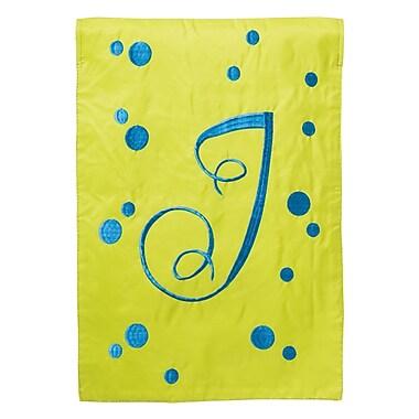 Evergreen Enterprises, Inc Polka Dot Initial Garden Flag; J