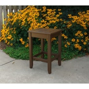 Hershy Way Days End Side Table; Chocolate Brown