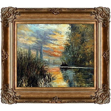 Tori Home Evening at Argenteuil by Claude Monet Framed Painting Print