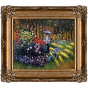 Tori Home Woman w/ a Parasol in the Garden in Argenteuil by Claude Monet Framed Painting Print
