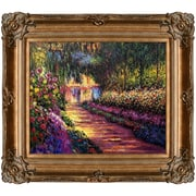 Tori Home Pathway in Monet's Garden at Giverny by Claude Monet Framed Painting Print
