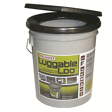 Reliance Luggable Loo Portable 5 GPF Round One-Piece Toilet
