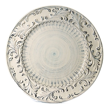 Intrada Baroque Round Platter; Cream