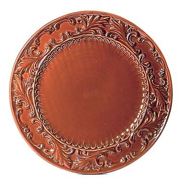 Intrada Baroque Round Platter; Paprika