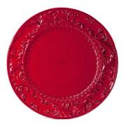 Intrada Baroque Round Platter; Red