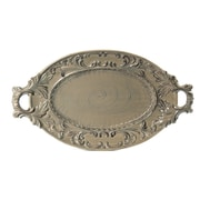 Intrada Baroque Oval Platter w/ Handles; Taupe