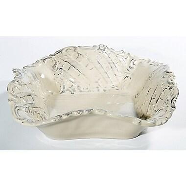Intrada Baroque Square Bowl (Set of 2); Cream