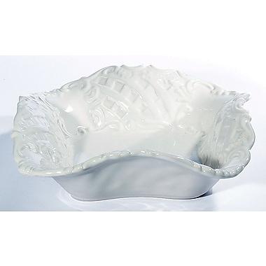 Intrada Baroque Square Bowl (Set of 2); White