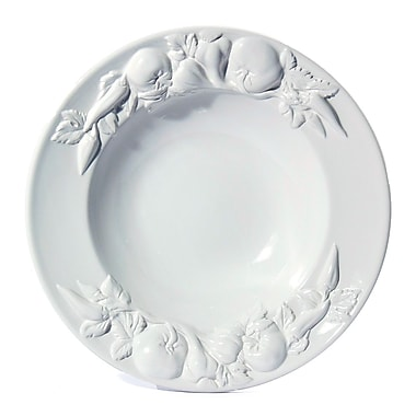 Intrada Baroque Large Salad Bowl; White