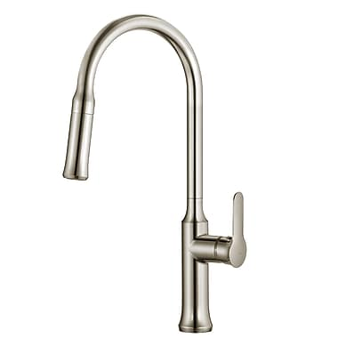 Kraus Nola Single Handle Deck Mount Pull Down Kitchen Faucet; Stainless Steel