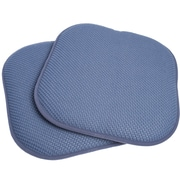 Sweet Home Collection Chair Cushion (Set of 2); Blue
