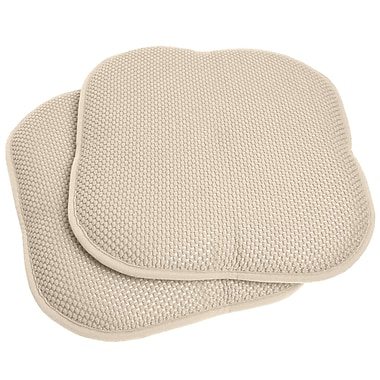 Ophelia & Co. Chair Cushion (Set of 2); Linen