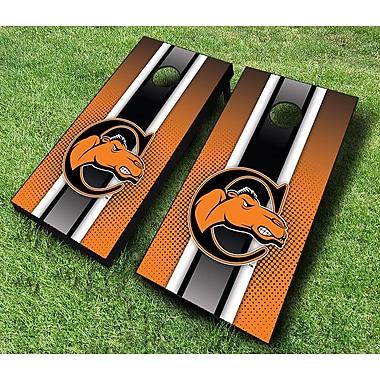 AJJCornhole NCAA 10 Piece Striped Cornhole Set; Campbell Camels
