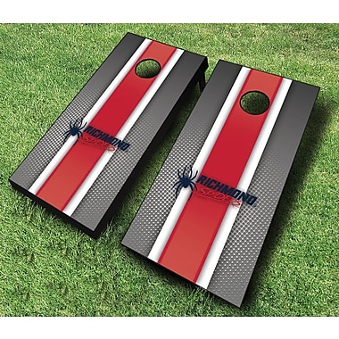 AJJCornhole NCAA 10 Piece Striped Cornhole Set; University of Richmond