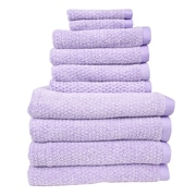 Fabbrica Home Diamond Jacquard Performance Core 10 Piece Towel Set; Lavender