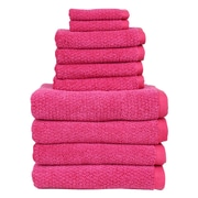Fabbrica Home Diamond Jacquard Performance Core 10 Piece Towel Set; Magenta