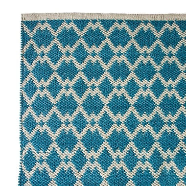 Cozy Home and Bath Hand-Woven Bristol Blue Area Rug; 5' x 8'