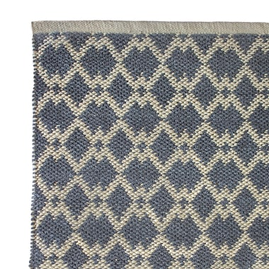 Cozy Home and Bath Hand-Woven Gray Area Rug; 2' x 3'