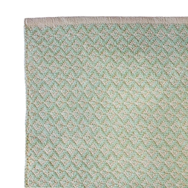 Cozy Home and Bath Hand-Woven Aqua Green Area Rug; 5' x 8'