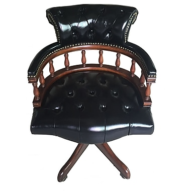 Perfect EasternLegends Leather Bankers Chair; Black