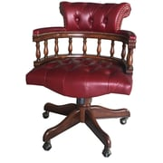 EasternLegends Leather Bankers Chair; Red