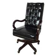 EasternLegends Leather Executive Chair; Black
