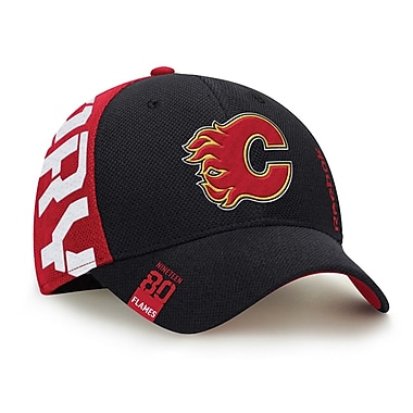 Reebok Calgary Flames NHL Center Ice Draft Cap, L/XL (0828-04XL)