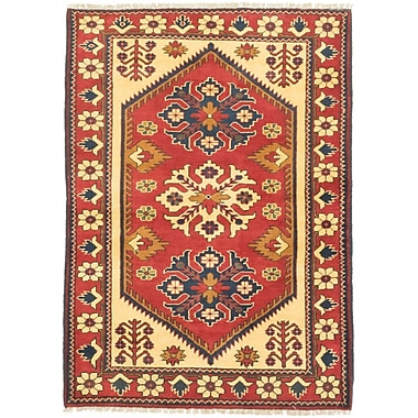 ECARPETGALLERY Finest Kargahi Hand-Knotted Dark Orange/Light Yellow Area Rug