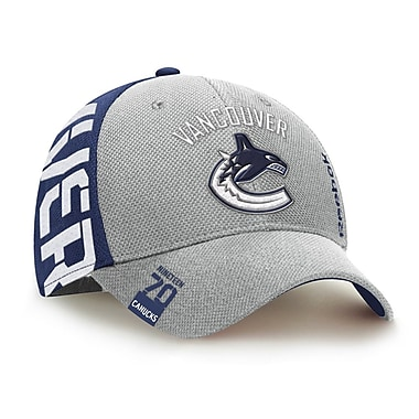 Reebok – Casquette de repêchage de la NHL des Canucks de Vancouver, collection Center Ice, P/M (0836-04S)