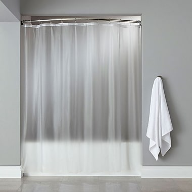 Sweet Home Collection Vinyl Shower Liner; Frosty