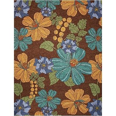 Nourison South Beach Hand-Woven Brown/Green/Orange Indoor/Outdoor Area Rug; 8' x 10'6''