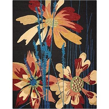 Nourison South Beach Hand-Woven Black/Orange Indoor/Outdoor Area Rug; 8' x 10'6''