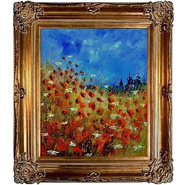Tori Home Ledent - Poppies 672121 Framed Painting Print