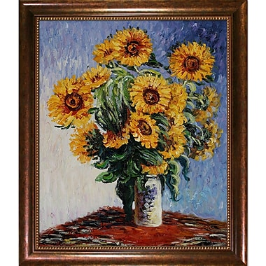 Wildon Home Sunflowers by Claude Monet Framed Painting
