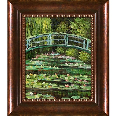 Wildon Home White Water Lilies, 1899 by Claude Monet Framed Painting