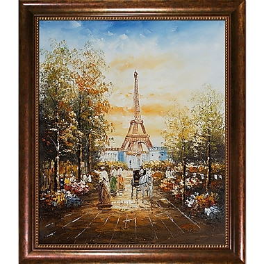 Wildon Home Gardens Near the Eiffel by Various Artists Framed Painting