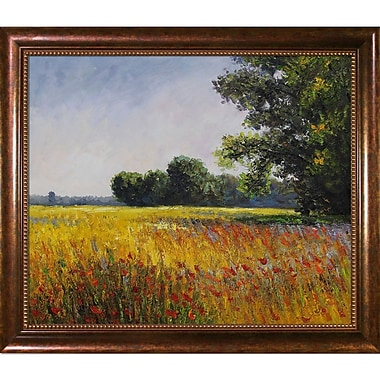 Wildon Home Oat Fields by Claude Monet Framed Painting