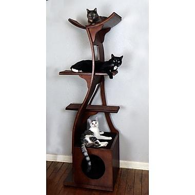 The Refined Feline 69'' Lotus Cat Tree; Mahogany