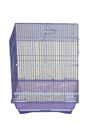 YML Flat Top Small Parakeet Cage w/ Food Access Door; Purple