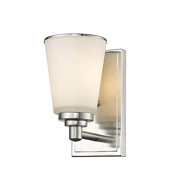 Z-Lite Jarra 1-Light Wall Sconce; Brushed Nickel
