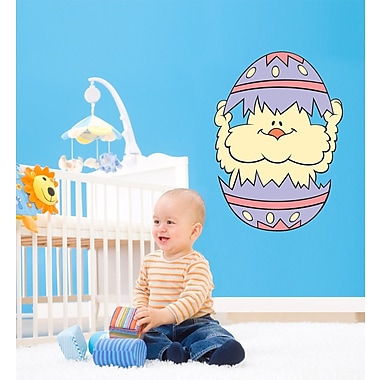 Wallhogs Easter Chick Cutout Wall Decal; 24'' H x 17'' W