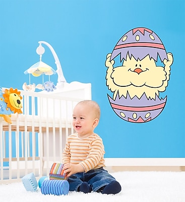 Wallhogs Easter Chick Cutout Wall Decal; 60'' H x 42.5'' W
