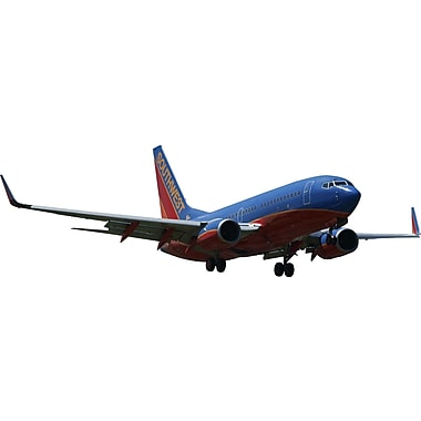 Wallhogs Chibi Southwest 737 on Approach Cutout Wall Decal; 15'' H x 48'' W