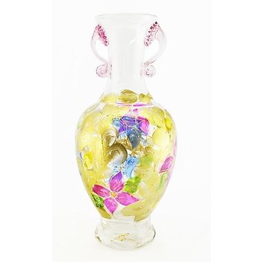 Three Star Hand Blown Vase