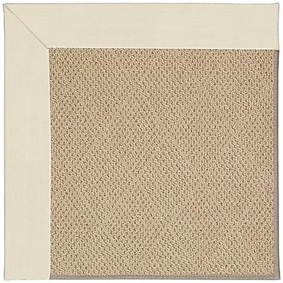 Capel Zoe Machine Tufted Sandy and Brown Indoor/Outdoor Area Rug; Square 8'