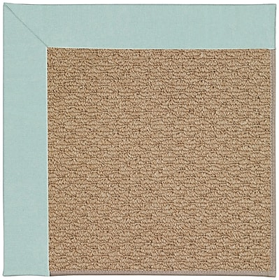 Capel Zoe Machine Tufted Iceberg/Brown Indoor/Outdoor Area Rug; Square 4'