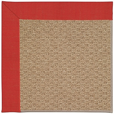 Capel Zoe Machine Tufted Red Crimson Indoor/Outdoor Area Rug; Rectangle 4' x 6'