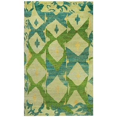 Capel Round About Big Top Hand Knotted Key Lime Area Rug; 8' x 10'