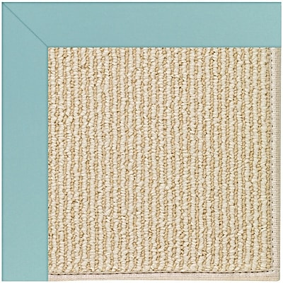 Capel Zoe Machine Tufted Seafaring Blue/Brown Indoor/Outdoor Area Rug; Square 10'